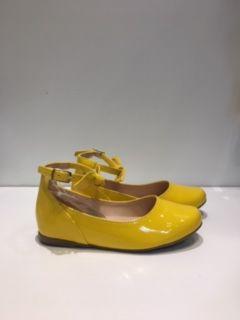 Sapatilha Colors Amarela Laço