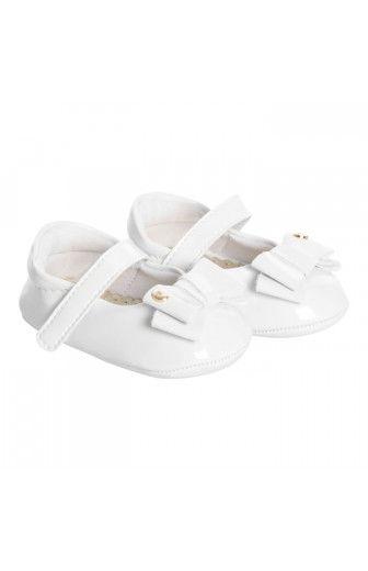 Sapato Baby Nina Branco Pampili