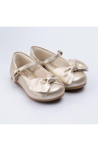 Sapato Boneca Angel Dourado Pérola Pampili