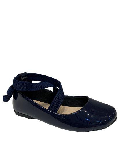 Sapato Boneca Bailarina Marinho Contramão