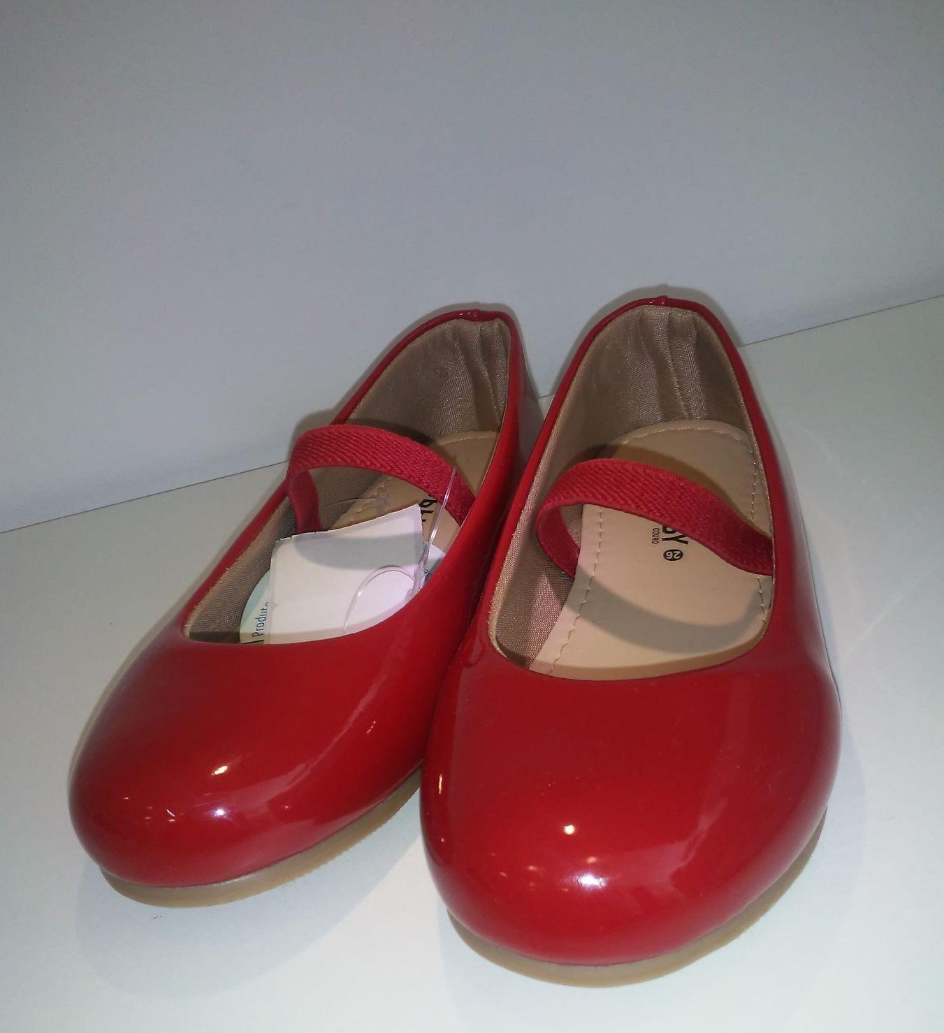 Sapato Boneca Verniz Vermelho Hobby
