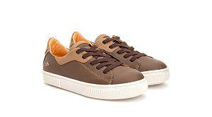 Sapato Cadarço Couro Marrom Gambo
