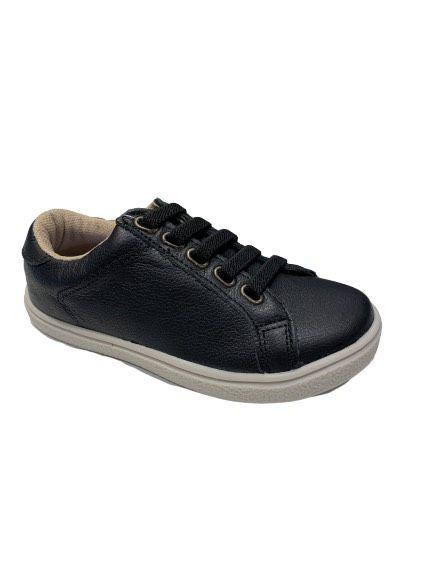 Sapato Cadarço Elástico Preto Hobby
