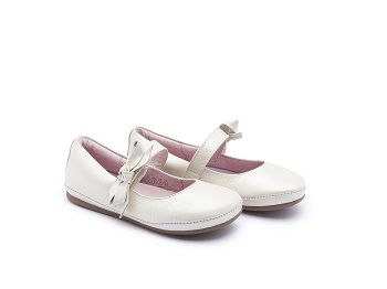 Sapato Couro Antique White Laço Little Doroth Tip Toey Joey