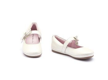 Sapato Couro Antique White Laço Little Doroth Tip Toey Joey