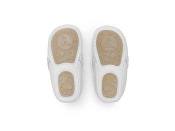 Sapato Couro Branco Sharpy Tip Toey