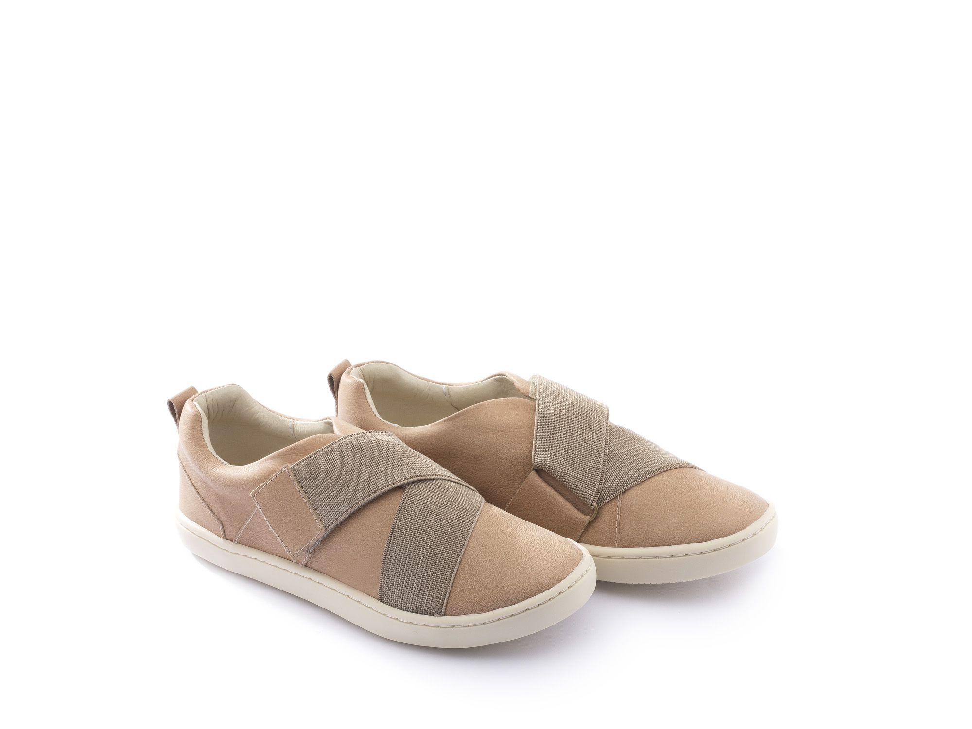 Sapato Couro Caramelo J Zag Tip Toey Joey