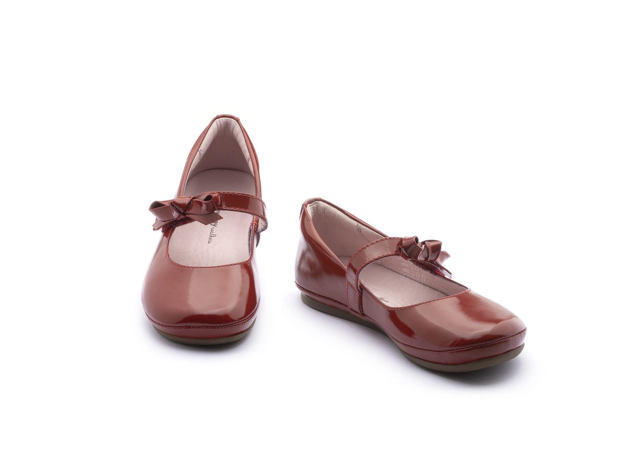 Sapato Couro Vermelho Verniz Laço Doroth Tip Toey Joey