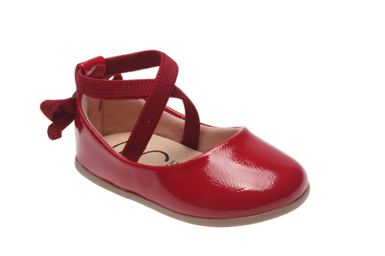 Sapato Verniz Vermelho com Elástico