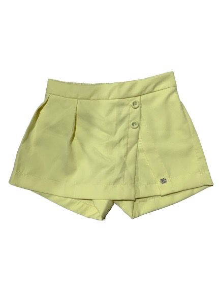 Short Botões Amarelo 1+1