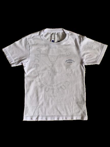 T-shirt Branca Gola Careca Calvin Klein