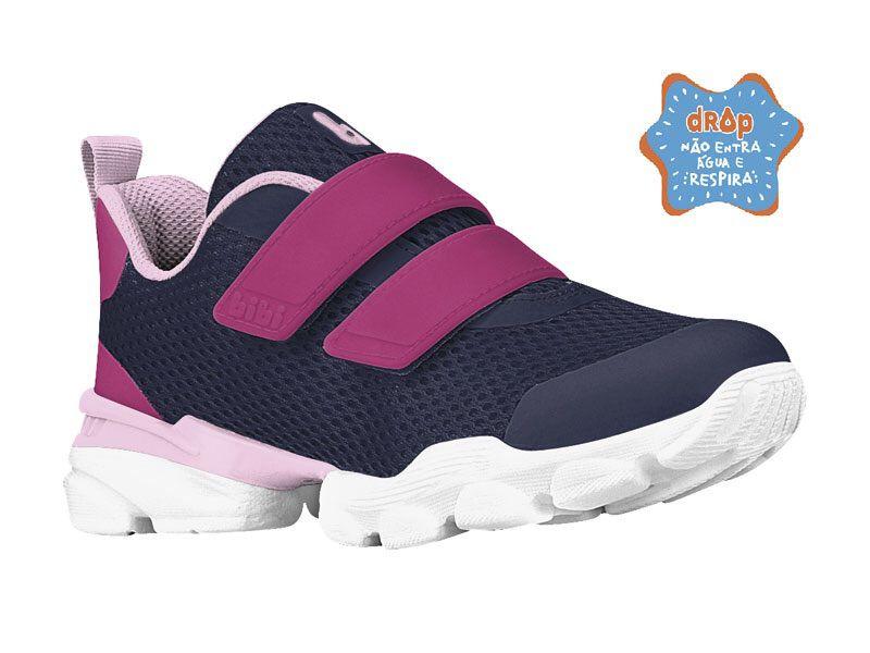 Tênis Velcro Drop New Pink com Marinho Bibi
