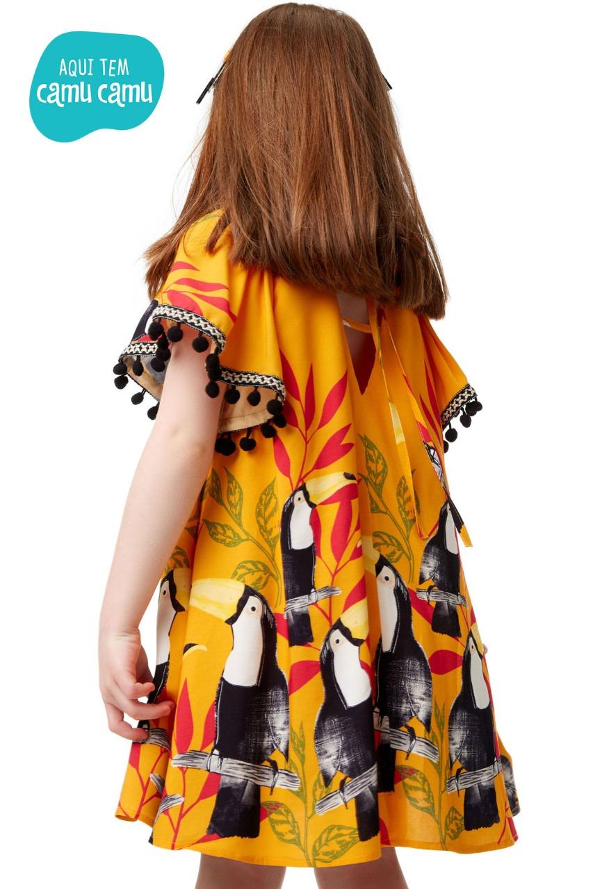 Vestido Amarelo Tucano - CamuCamu