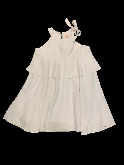 Vestido Babados Branco Green