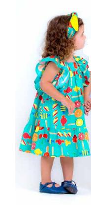 vestido estampado - precoce