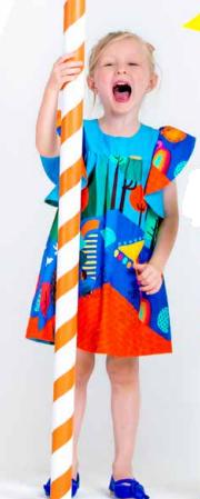 vestido feminino estampado - precoce