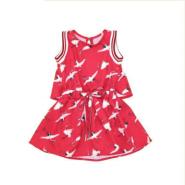 vestido gaivota vermelho - 1+1