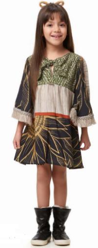 Vestido Girassol Preto CamuCamu