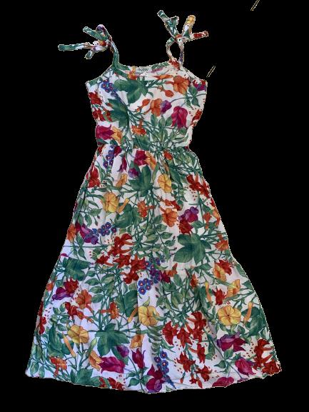 Vestido Longo Flores Pata Choca
