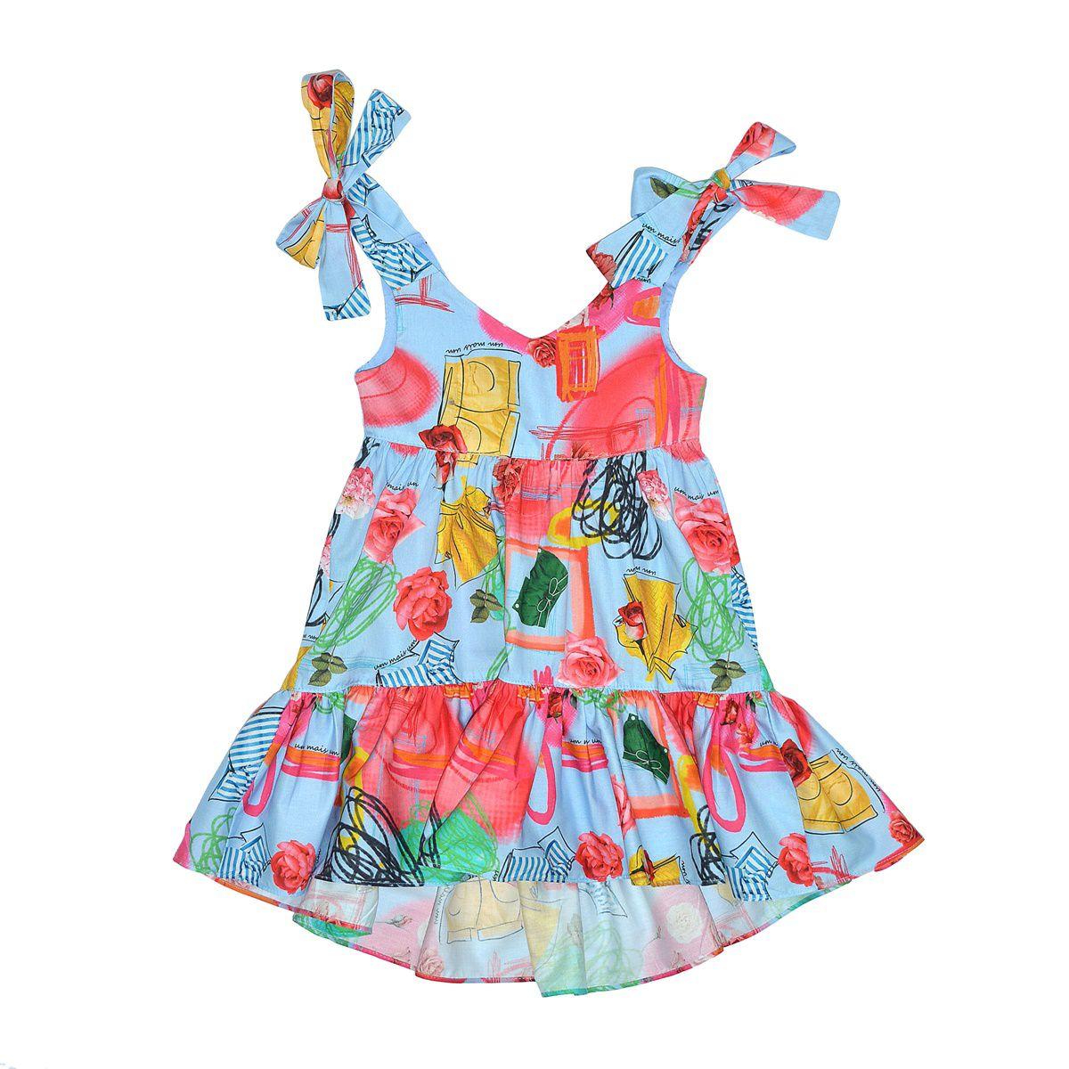 Vestido Midi Estampado Flores 1+1