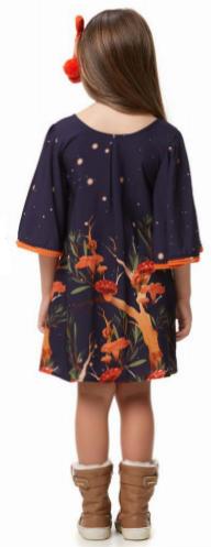 Vestido Noite Encantada com Pompom CamuCamu