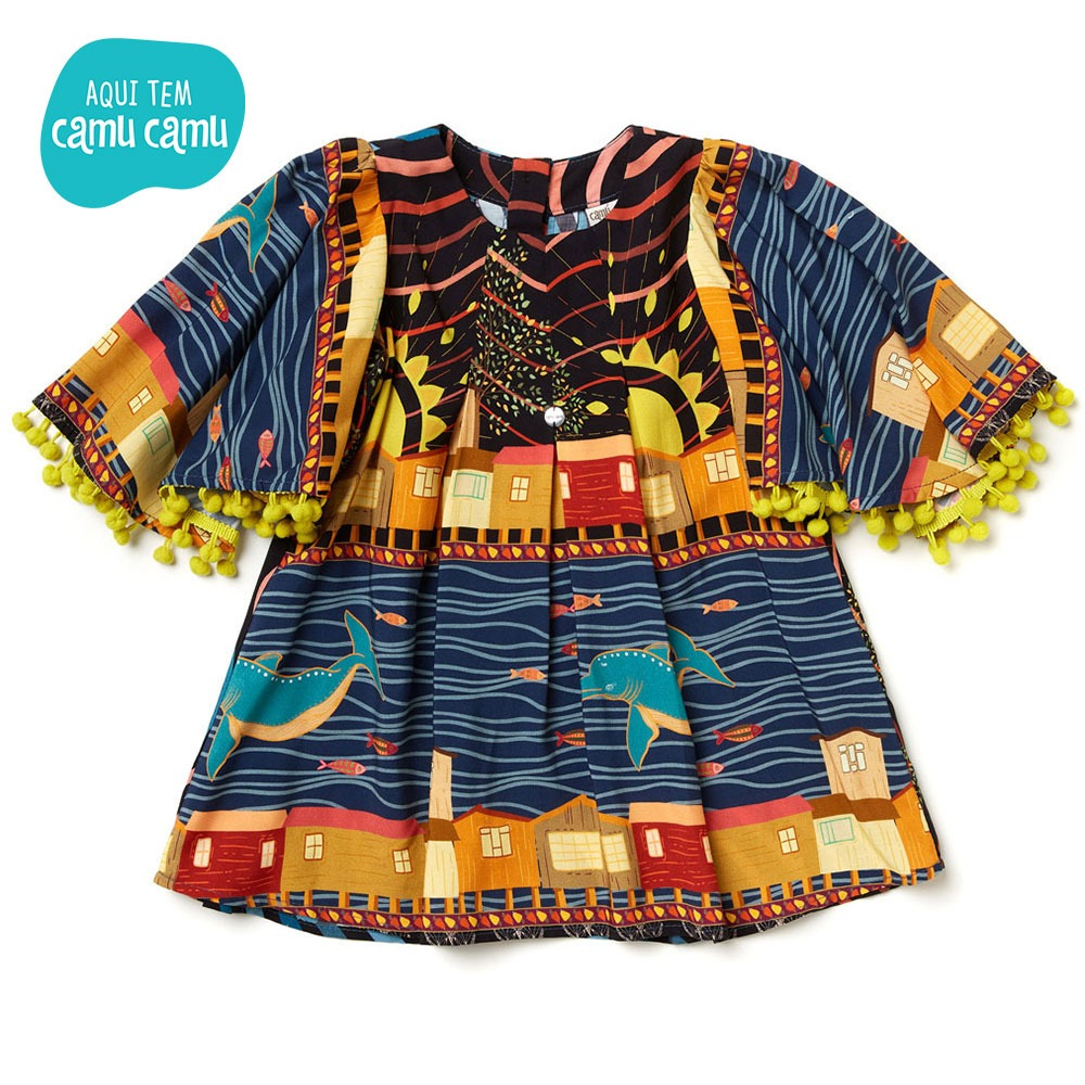 Vestido Parati Azul - Camu Camu
