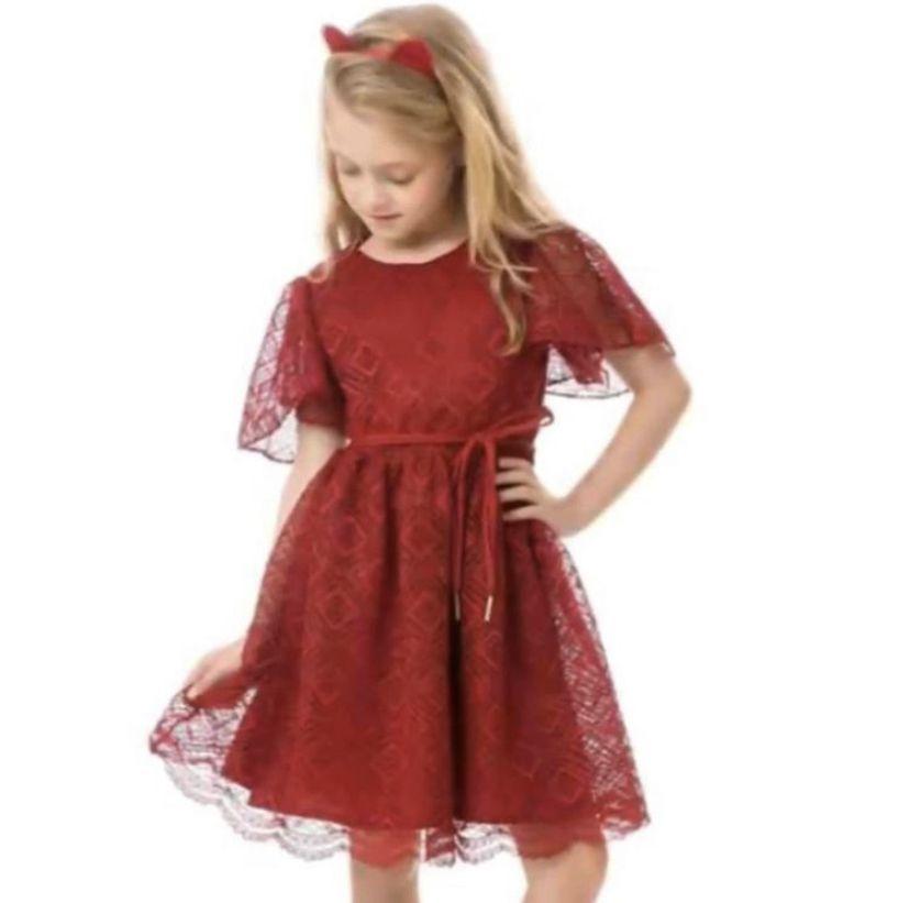 Vestido Renda Bordô 1+1