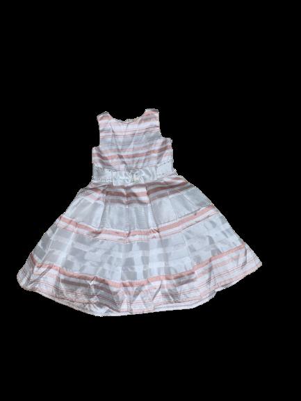 Vestido Rosa LIstrado Petit Cherie
