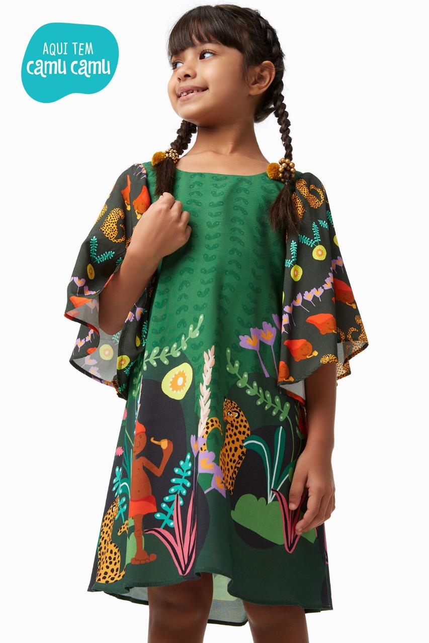 Vestido Verde Floresta - Camu Camu