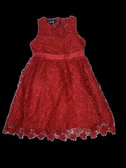 Vestido Vermelho Guipure Animê