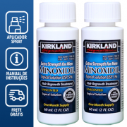 Kirkland Minoxidil 5% - Kit 2 Frascos + Aplicador Spray