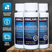 Kirkland Minoxidil 5% - Kit 3 Frascos + Aplicador Original(O TEMPO DE ENTREGA PODE VARIAR POR CAUSA DO COVID19)
