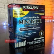 (Promoção) Caixa lacrada Kirkland Minoxidil 5% - Kit 6 Frascos + Aplicador Original (PRONTA ENTREGA)