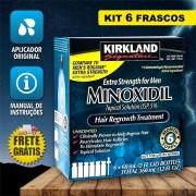 Kirkland Minoxidil 5% - Kit 6 Frascos + Aplicador Original (PRONTA ENTREGA)