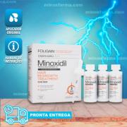 Minoxidil Foligain - Caixa Lacrada  03 Frascos 180 ml + Aplicador Original (PRONTA ENTREGA)