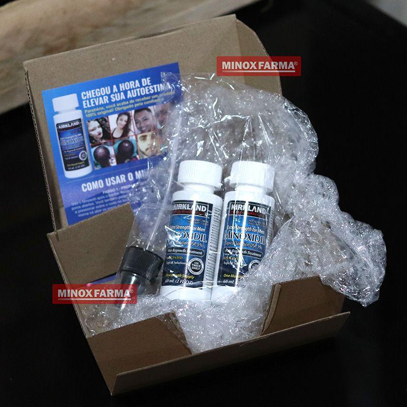 (Combo) 2 Frascos Minoxidil  Kirkland+ 1 Dermaroller 0.25mm (PRONTA ENTREGA)