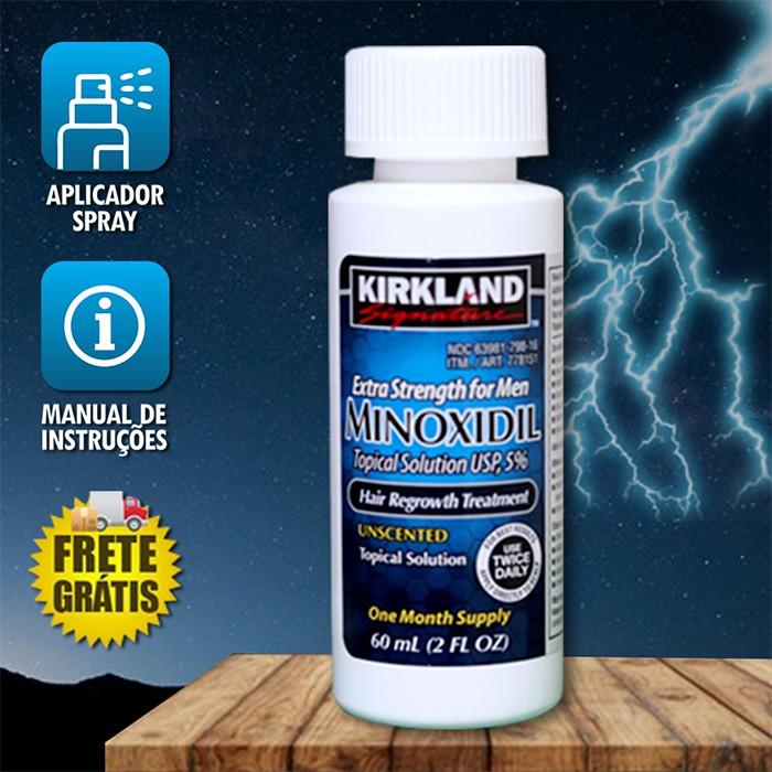 Minoxidil Kirkland 5% 01 Frasco 60 ML+ Aplicador Spray (PRONTA ENTREGA) Frete Grátis*
