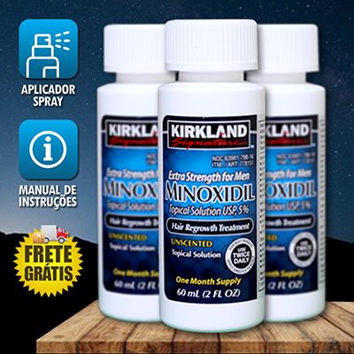 KIT - MINOXDERMA - 3 MINOXIDIIL +1 DERMAROLLER + 1 SPRAY