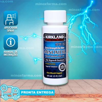 Minoxidil Kirkland 5% 01 Frasco 60 ML Original -  (PRONTA ENTREGA)