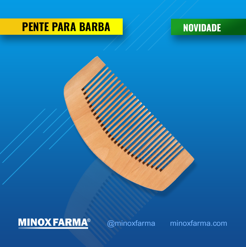 Pente de Madeira  Para Barba- Anti-Estático