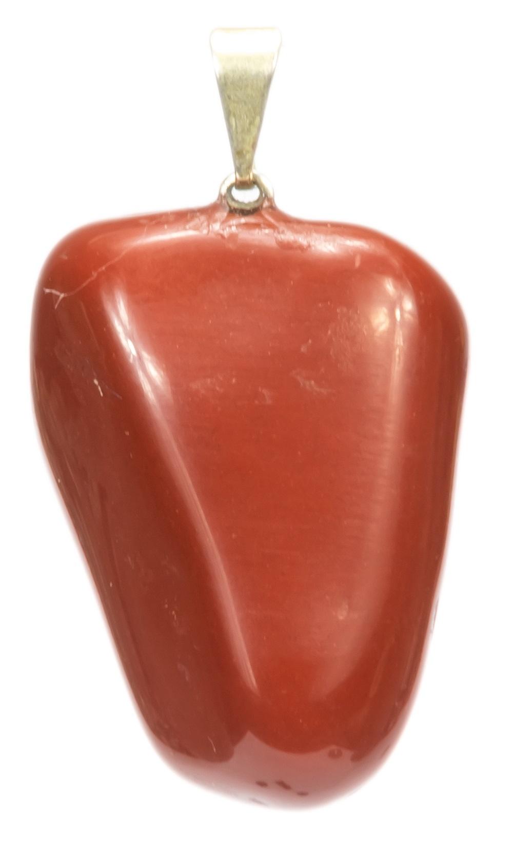 100 unidades de Pingentes de Pedra Jaspe Vermelho Natural