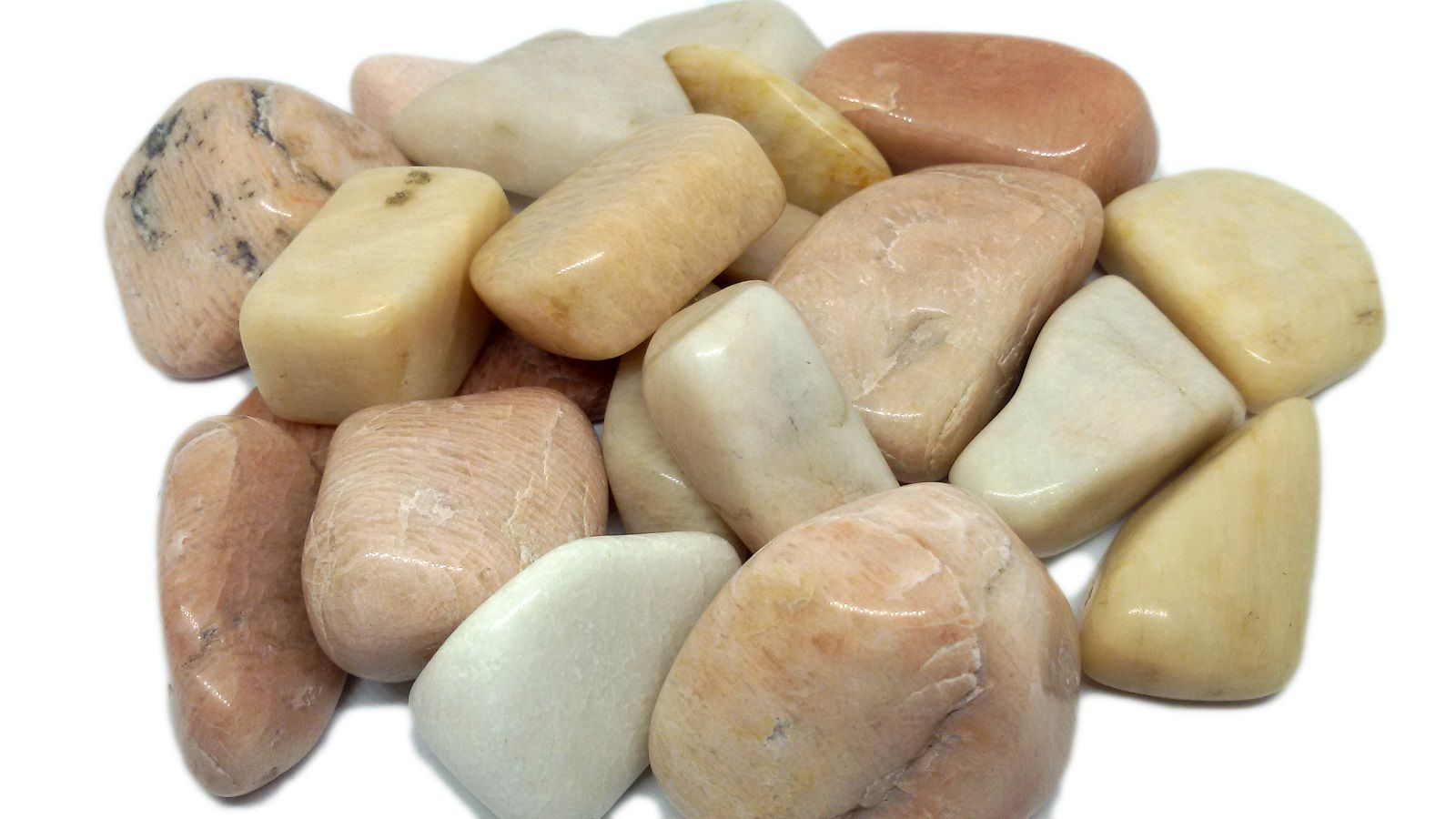 100g De Pedra Rolada De Feldspato Natural