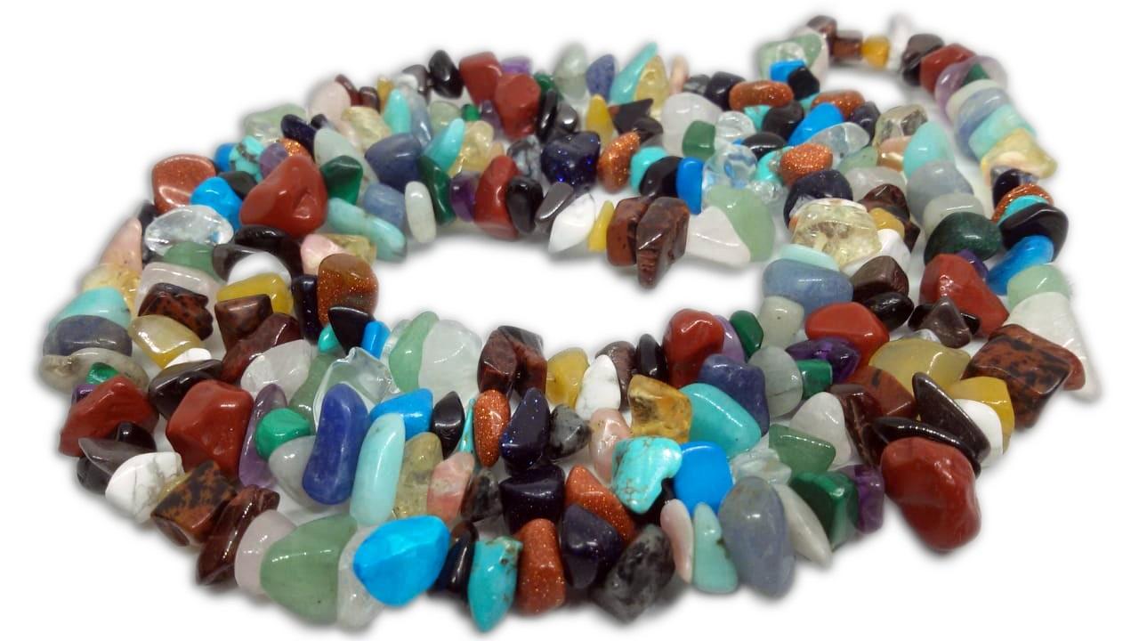 10 Colares De Cascalho Cigano Diversos Tipos De Pedras Naturais