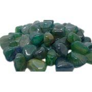 250g De Pedra Rolada De Ágata Verde