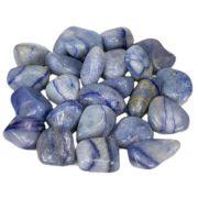 500g De Pedra Rolada Quartzo Azul Natural