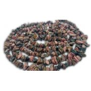 Colar De Cascalho De Pedra Rodocrosita Natural