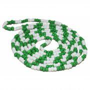 Colar De Miçanga Verde E Branca Caboclo