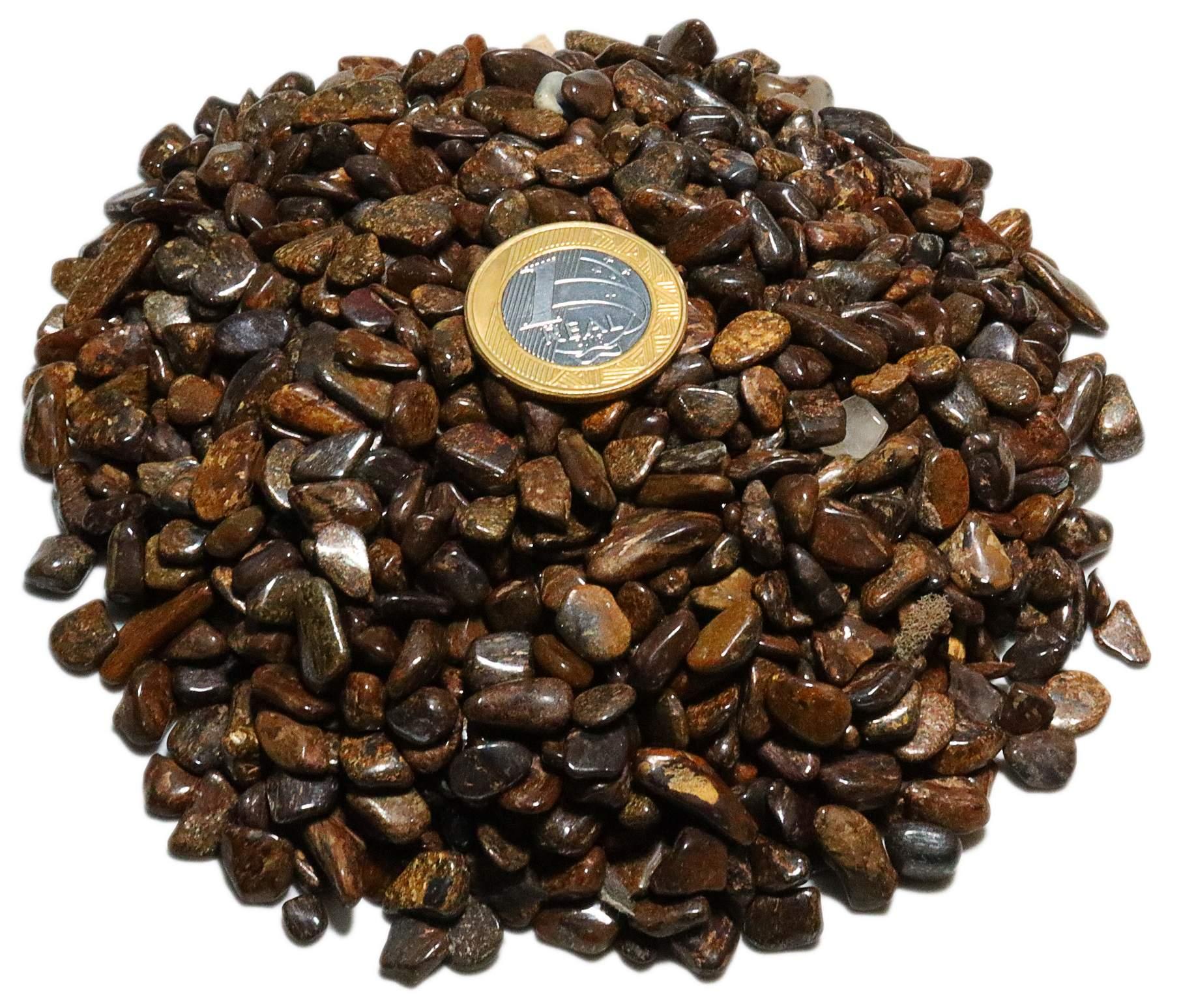 1kg De Cascalho De Pedra Bronzita Natural