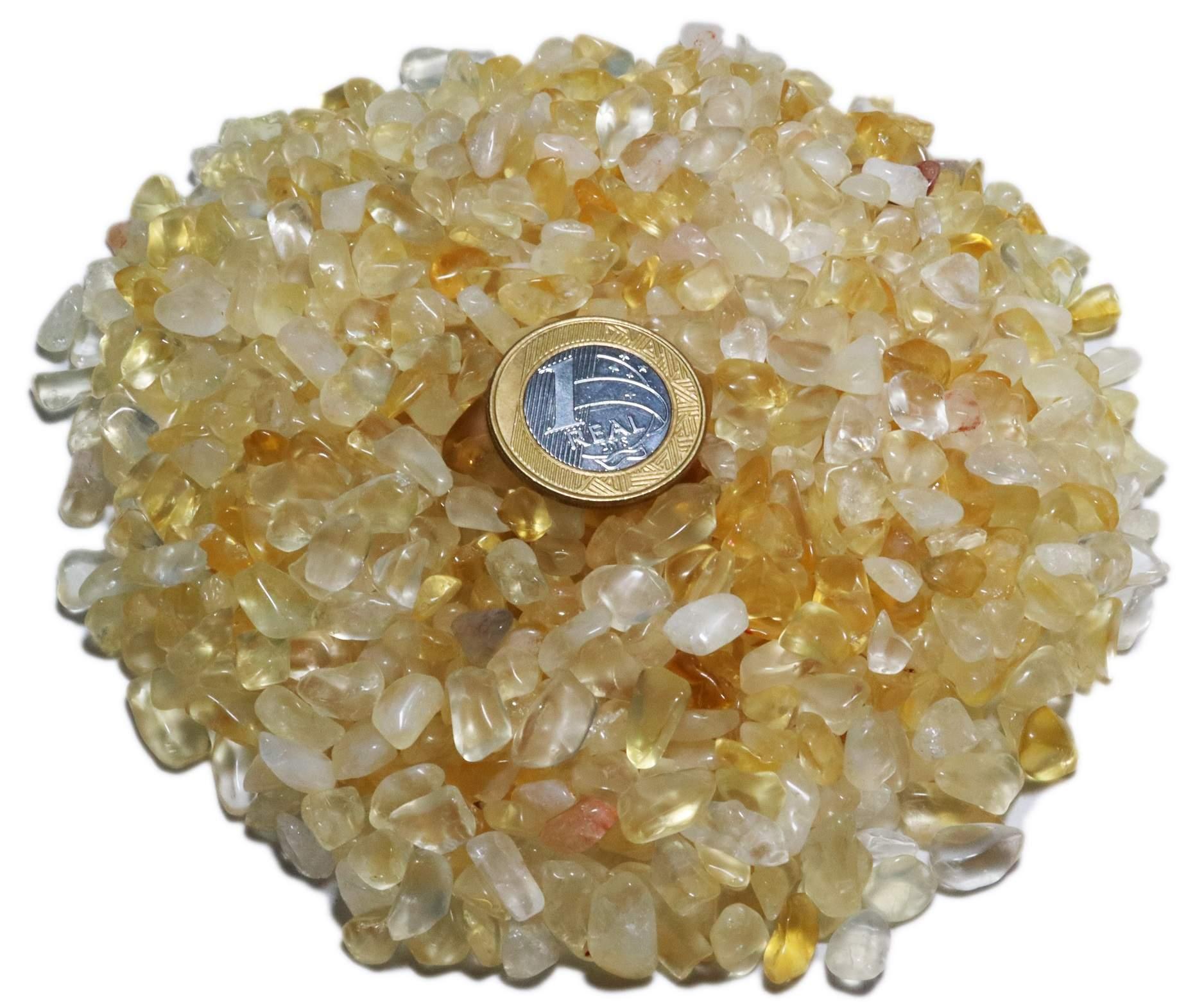 1kg De Cascalho De Pedra Citrino Natural