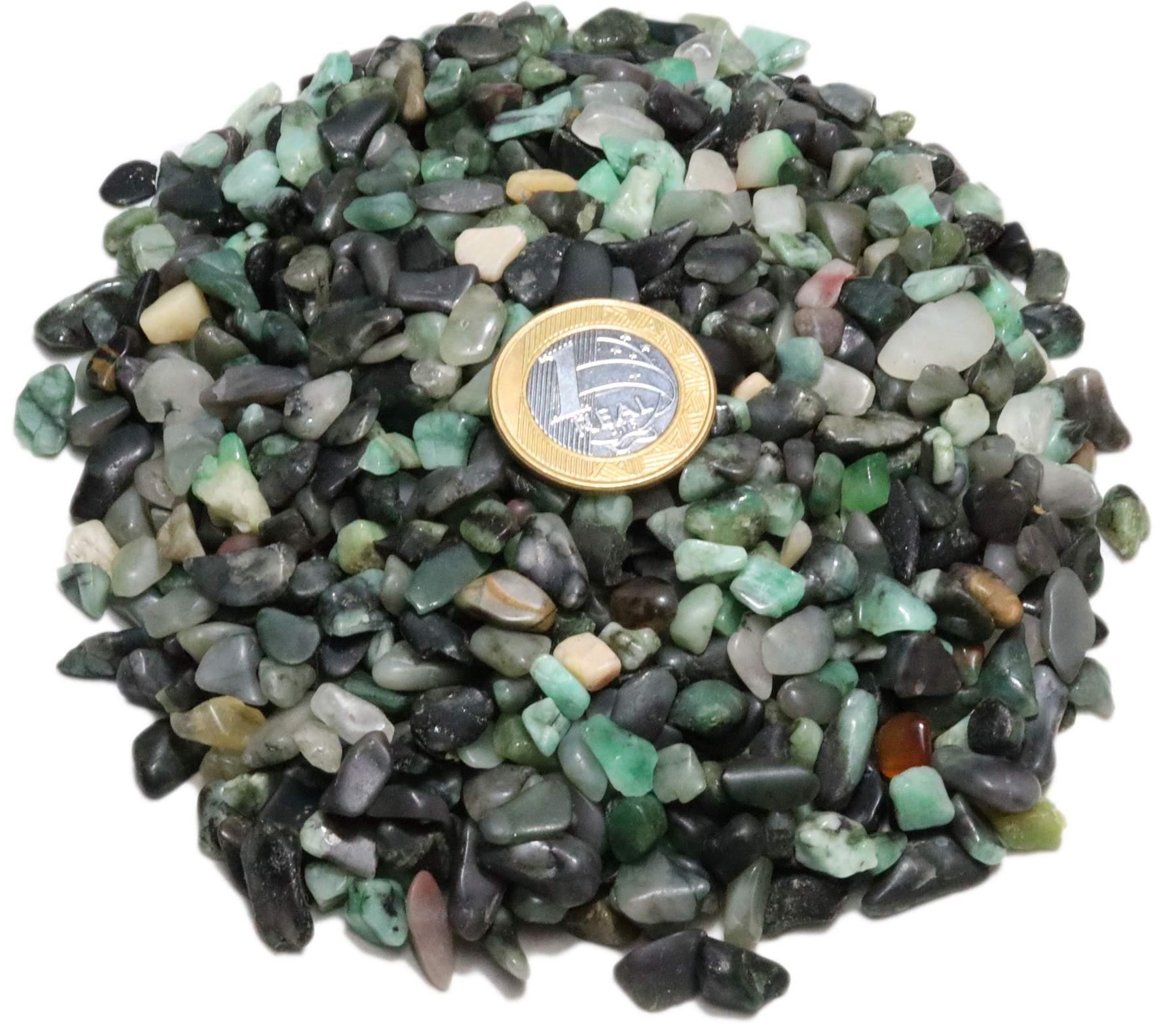 1kg De Cascalho De Pedra Esmeralda Natural